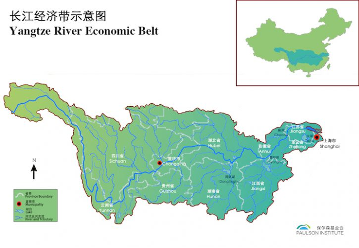 Map - Yangtze River Economic Belt Web